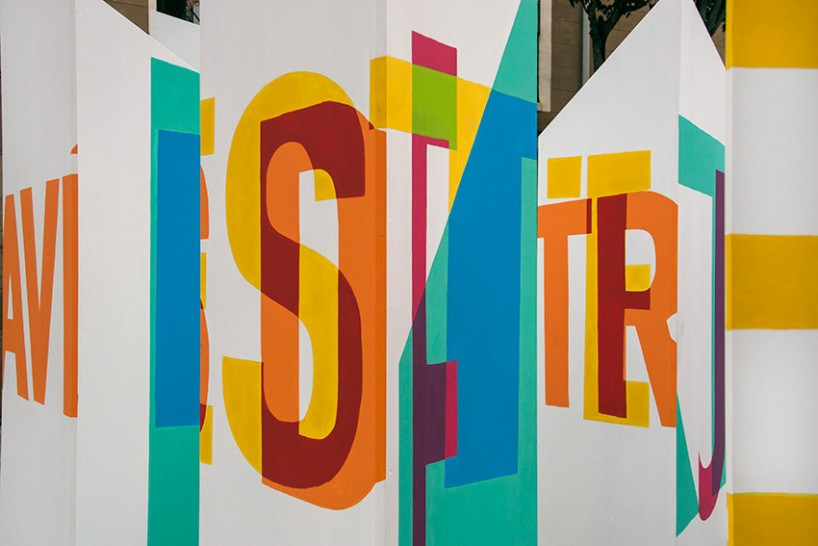 boa mistura透视的字体雕塑艺术